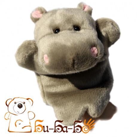 Бегемотик бибабо (кукла-перчатка)