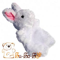Зайчик белый бибабо (кукла-перчатка) Белый кролик