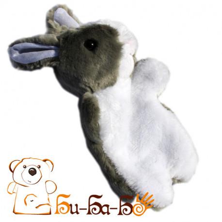 Зайчик серый бибабо (кукла-перчатка)