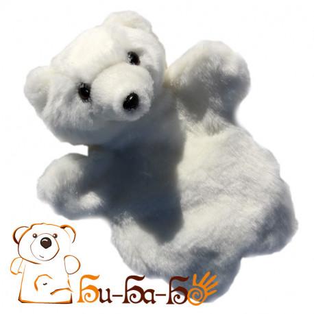 Мишка белый бибабо (кукла-перчатка)