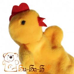 Цыпленок-курочка бибабо (кукла-перчатка)