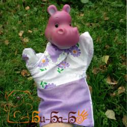 Бегемот бибабо (кукла-перчатка)