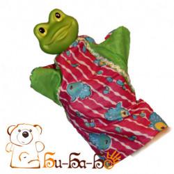 Лягушка-квакушка бибабо (кукла-перчатка)