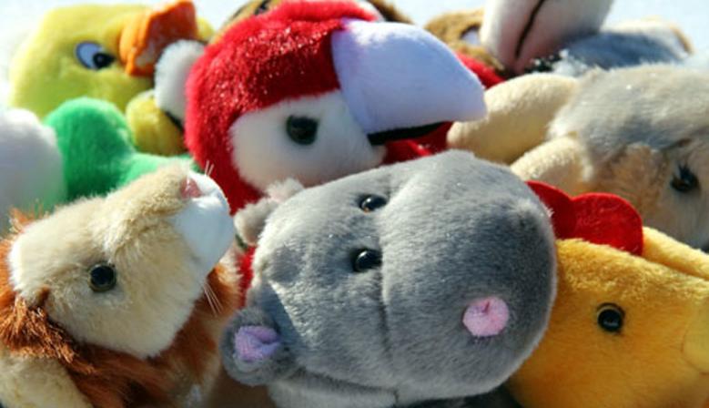 Меховые игрушки бибабо